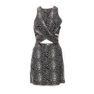 Zimmermann Cut Out Wrap Front Animal Print Dress